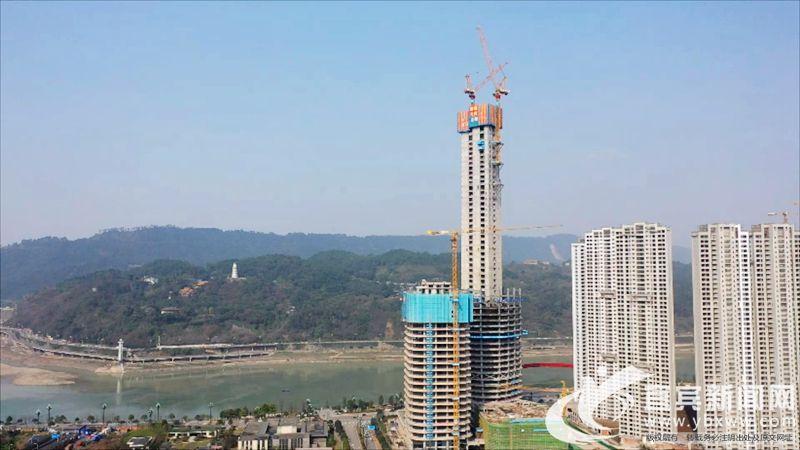 第一高楼背江面视角。(项目部供图).jpg